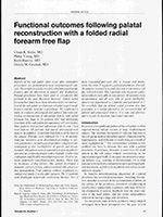 Functional outcomes following palatal reconstruction with a folded radial forearm free flap
