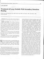 Treatment of Large Keloids with Secondary Intention Healing